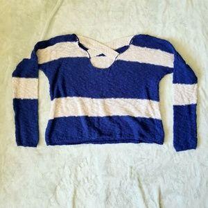 Roxy Tops - ROXY knit pullover sweater | striped blue & white